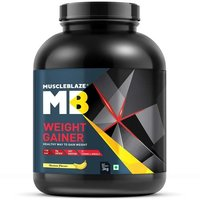 MuscleBlaze Weight Gainer with Added Digezyme, 6.6 lb (3kg)Banana