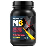 MuscleBlaze Weight Gainer with Added Digezyme, 2.2 lb (1kg)Banana