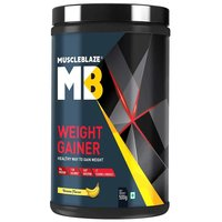 MuscleBlaze Weight Gainer with Added Digezyme, 1.1 lb(0.5kg) Banana