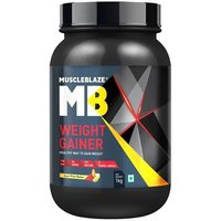 MuscleBlaze Weight Gainer with Added Digezyme, 2.2 lb (1kg)Kesar Pista Badam