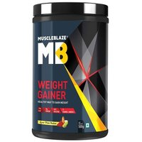 MuscleBlaze Weight Gainer with Added Digezyme, 1.1 lb(0.5kg) Kesar Pista Badam