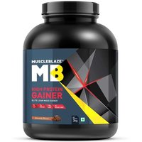 MuscleBlaze High Protein Lean Mass Gainer, 6.6 lb(3kg) Chocolate