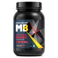 MuscleBlaze High Protein Lean Mass Gainer, 2.2 lb(1kg) Chocolate