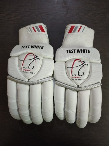 APG Test White Cricket Batting Gloves