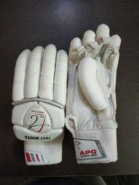 APG Test White Cricket Batting Gloves