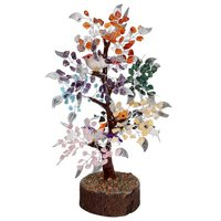Natural Seven Chakra M-Seal  Silver Wire Tree With Bird 500 Dana