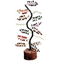 Natural Multistone M-Seal  Golden Wire Zig-Zag Tree