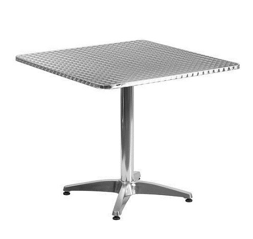 Silver Steel Stainless Dining Table Shape Rectangular