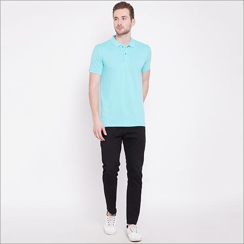 Mens Short Sleeve Casual Basic Polo T Shirt