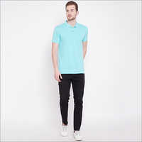 Mens Short Sleeve Casual Basic Polo T Shirt