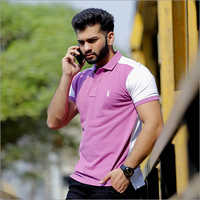 Mens Designer Collar Polo T Shirt