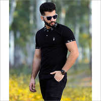 Mens Collar Polo T Shirt