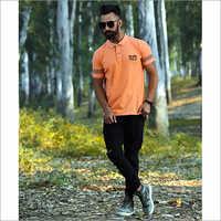 Mens Orange Color T-Shirt