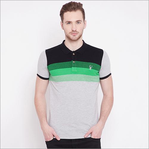 Mens Jacquard Polo T-Shirt