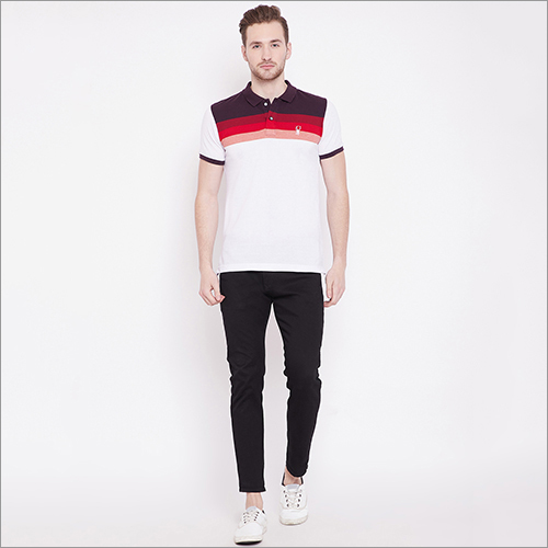 Mens Jacquard Polo T-Shirt