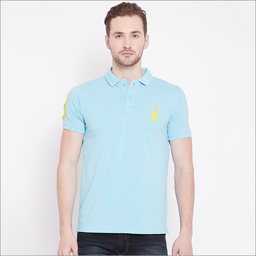 Mens Half Sleeve Collar Polo T-Shirt