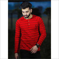 Mens Round Neck Lining Polo T Shirt