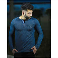 Mens Full Sleeve Plain Polo T-Shirt