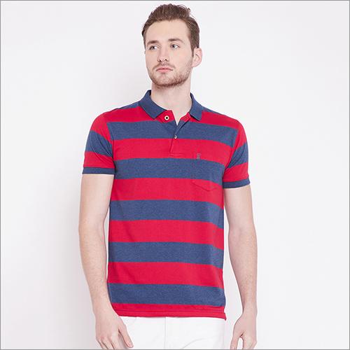 Mens Fancy Stripe Polo T-Shirt