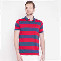 Mens Fancy Stripe Polo T-Shirt