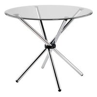 Round Stainless Steel Dining Table