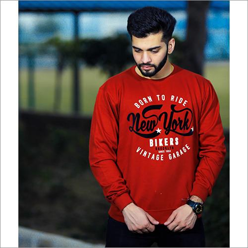 Mens Round Neck Designer Print Sweatshirt