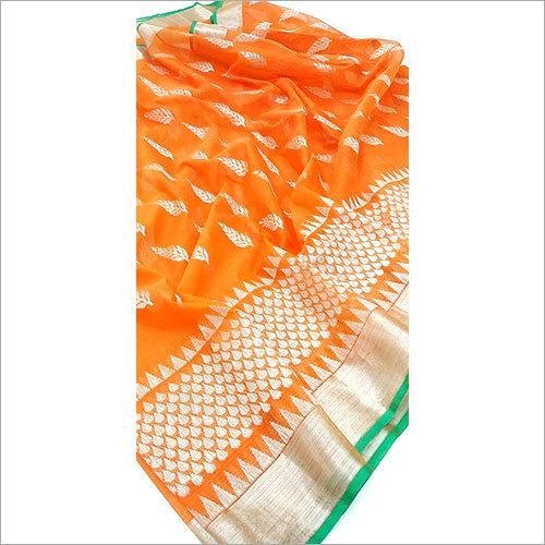 Pure Zari Border Cotton Sarees