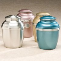 Set of Four Color Pewter Cremation Urn Silverado