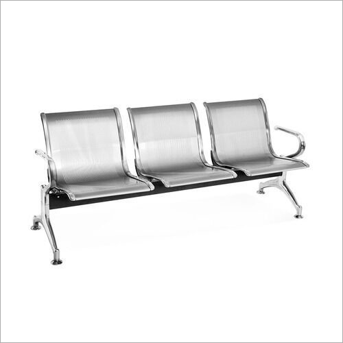 Chrome Plated Three Seater Bench