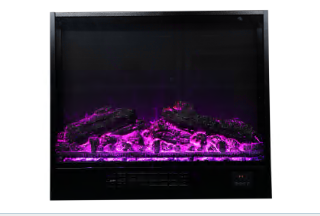 Flame Settings Sideline Electric Fireplace Realistic Colorful Flame Fan Heater