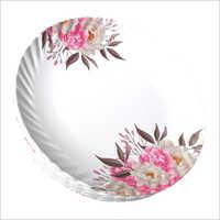 Melamine Leaf Printed Plate