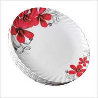 Melamine Floral Printed Plate