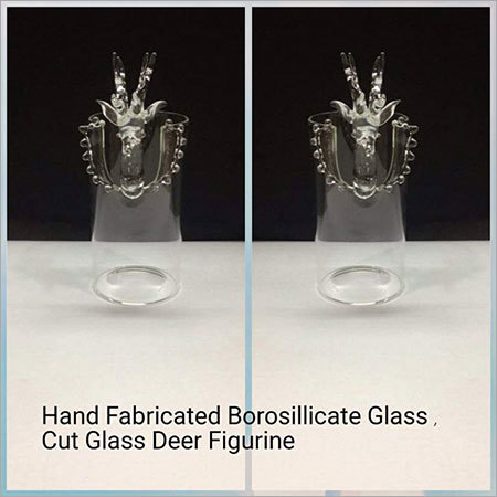 Hand Fabricated Borosilicate Glass,Cut Glass Deer Figurine