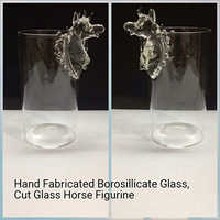 Hand Fabricated Borosilicate Glass,Cut Glass Horse Figurine