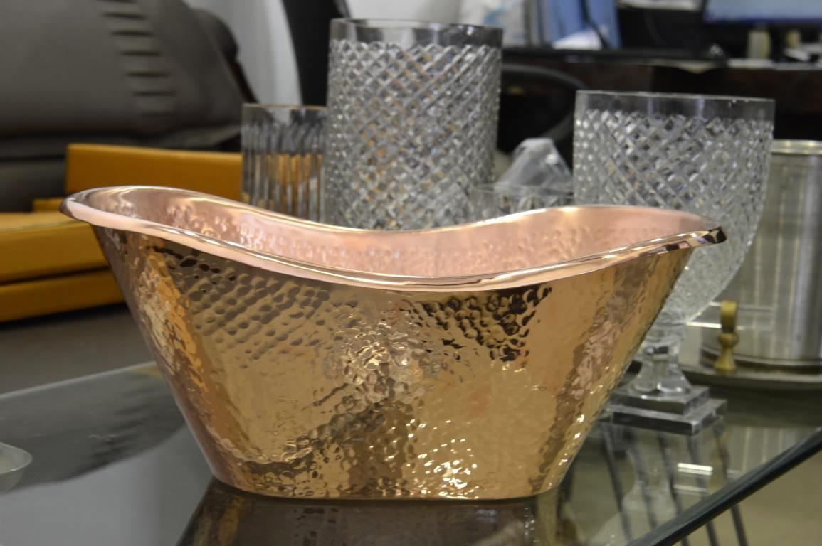 Copper Hammered Bucket
