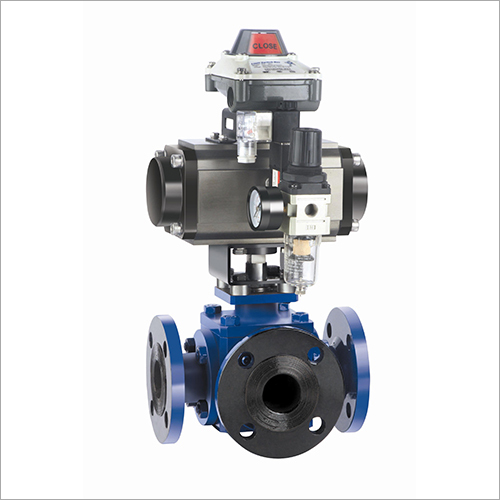 3 Way Ball Valve with Rotary Actuator and Accessories