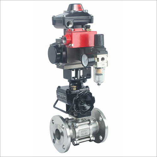 Ball Valve with Rotary Actuator and Accessories