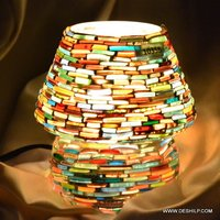 Bangle Mosaic Shape Glass Table Lamp