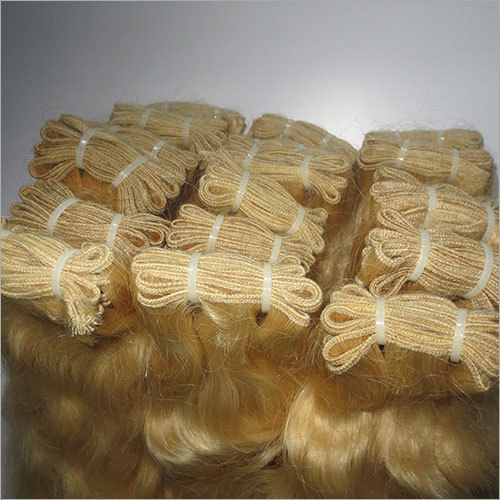 Curly Blonde Weft Hair