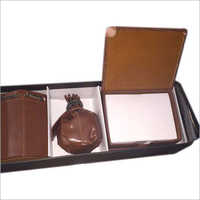 Designer Leather Desktop Organizer