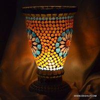 Yellow Mosaic Night Table Lamp