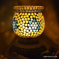 Unique Design Two Color Mosaic Table Lamp