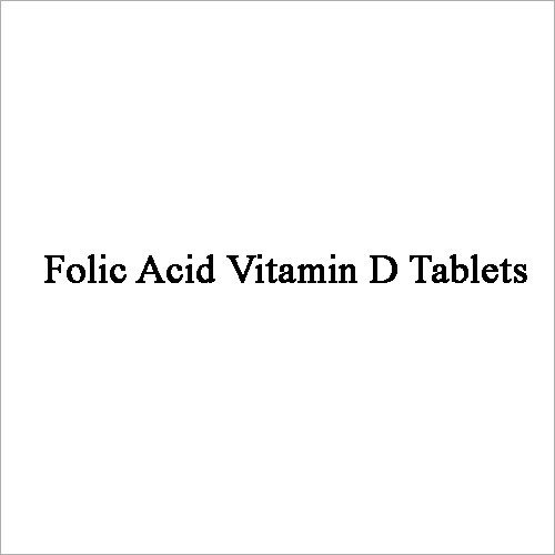 Folic Acid Vitamin D Tablets