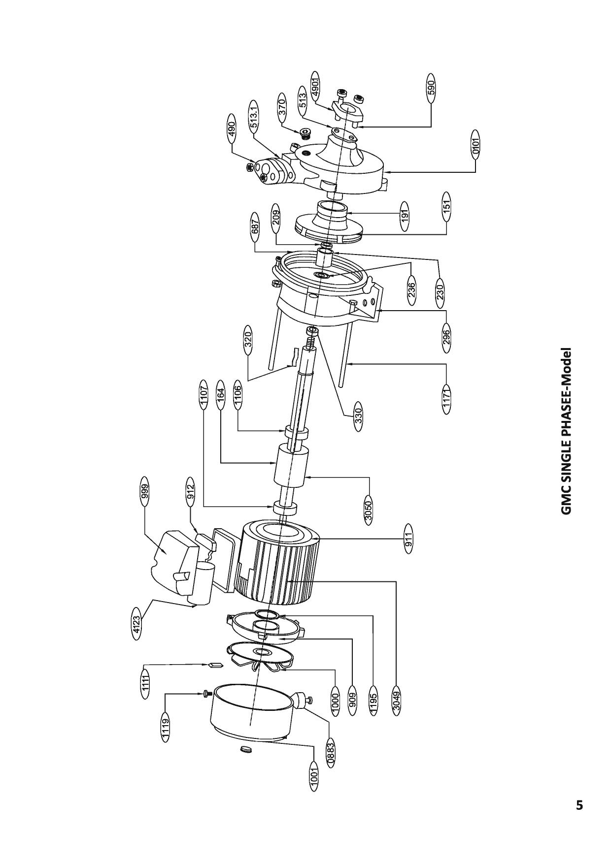 kirloskar pump monoblock spares