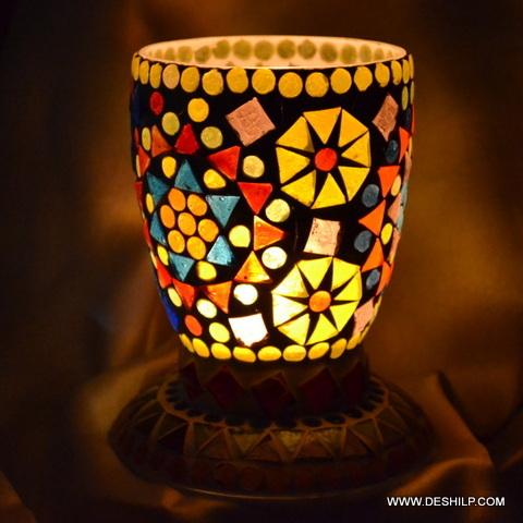 Glass Mosaic Decor Candle Holder