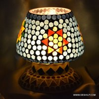 LAMP SHAPE GLASS CANDLE HOLDER