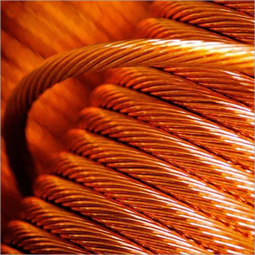 Bunched and stranded bare copper wire