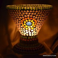 Multi Mosaic Glass Candle Lamp
