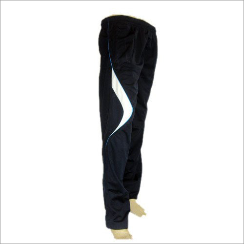 Mens Black Polyester Lower