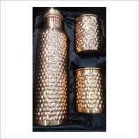 Copper Hammered Copper Bottle